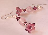 Vintage Amethyst Flower Earrings