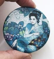 Asian Blue 2 inch round