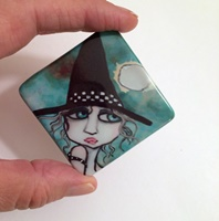 "Bewildered 2"" Porcelain Cabochon"