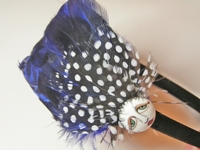 Blue SNOOKS Feather Headband