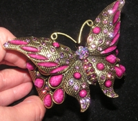 Plum Butterfly Bracelet