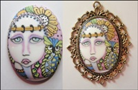 Painted Lady Cameo 3