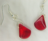 Candy Apple Red Dangle Earrings