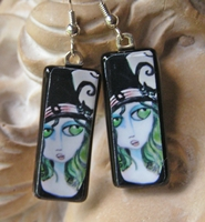 Cat and The Hat Earrings