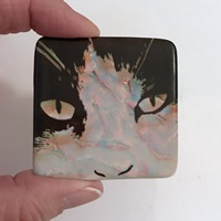 Cat Cabochon 2 inch square