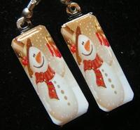 Cheers Snowman Earrings