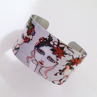 Christmas Painted Lady Bracelet