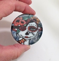 Day Of The Dead 18 2 inch Round Cab
