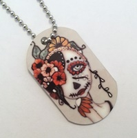 Day Of The Dead 19 Dog Tag Necklace