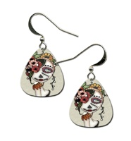 Day Of The Dead 19 Guitar Pick Earrings
