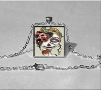 Day Of The Dead 19 Pendant Necklace