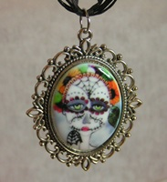 Day of the Dead 1 Cameo Necklace