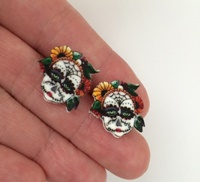 Day of The Dead 1 Post Earrings