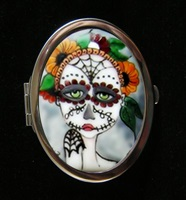 Day Of The Dead Compact Mirror