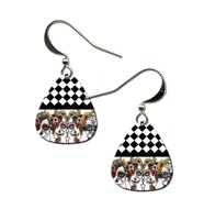 Day Of The Dead Ladies Guitar Pick Earrings