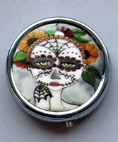 Day Of The Dead Pill Box