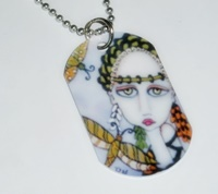 Dragonfly Empress Dog Tag Necklace