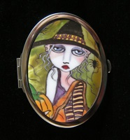 Friends Of The Night Compact Mirror