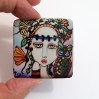 Garden Friends Square Cabochon