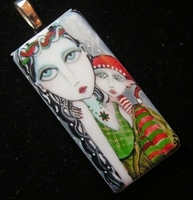 Who's on the Naught List Glass Pendant