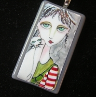 Peppermint Patti Glass Pendant