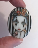 Harlequin In Stripes Two cameo