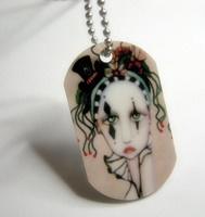 Harlequin Dog Tag Necklace