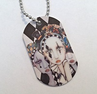 Harlequin Ladies Dog Tag Necklace