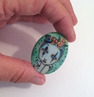 Harlequin Lady Two Cameo