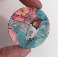 Hummingbird in blue