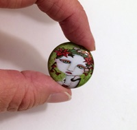 Joy 1 inch Cabochon with magnet
