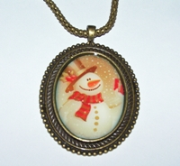 Let It Snow Cameo Necklace