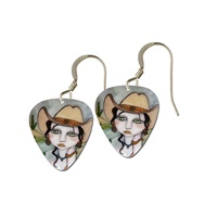 Marguerita Guitar Pick Earrings