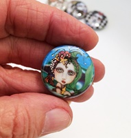 Mermaid 1 inch Magnet