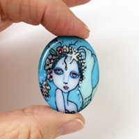 Mermaid and Pearls Cameo