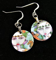 Painted Lady Charm Earrings