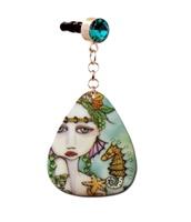 Mermaids and Seahorse Dust Plug Charm