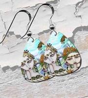 Mermaids Guitar Pick Earrings
