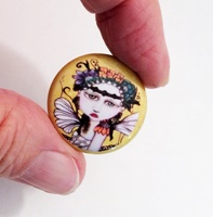 Moonflower 1 inch Magnet