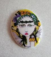 Moonflower Porcelain Cameo