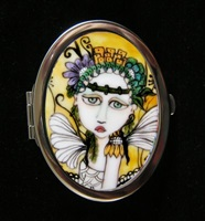 Moonflower Compact Mirror