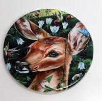 Mystical Deer 2 inch round