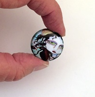 Nevermore 1 inch Cabochon with magnet