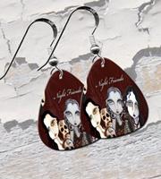 Night Friends Guitar Pick Earrings