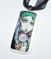 Nine Lives Glass Necklace