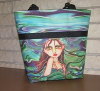 Ocean Blue Mermaid Tote