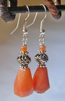 Faceted Orange Agate Bead Dangle