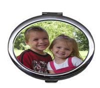 Personalized Mirror Compact with Photo