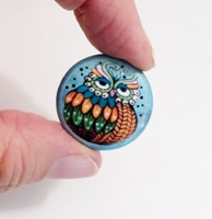 Owl 1 inch Magnet