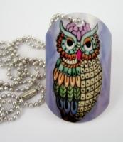 Ariel Owl Dog Tag Necklace